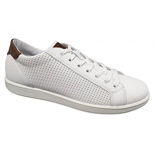 IGI&CO Igico 1124033 Sneakers Scarpe Uomo Vera Pelle Bianco