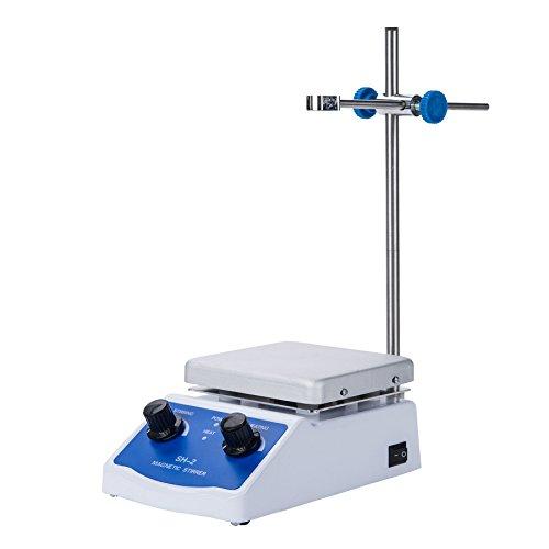 CO-Z Magnetic Stirrer, Magnet Stirrer with Heating & Speed Adjusting, Magnetic Mixer with Hot Plate & Magnetic Stirrer Bar, Home Lab Homebrew Kitchen Stirrer, 100-2000 RPM, 110V