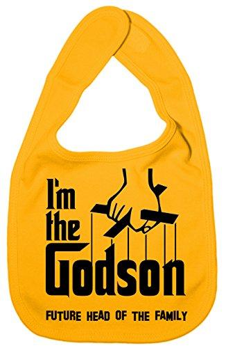 IIE Bavoir unisexe pour bébé avec inscription I'm The Godson, Future Head of Family Jaune