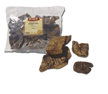 DIBO Rinderlunge, 250g-Beutel, der kleine Naturkau-Snack oder Leckerli für Zwischendurch, Hundefutter, Qualitätskauartikel ohne Chemie