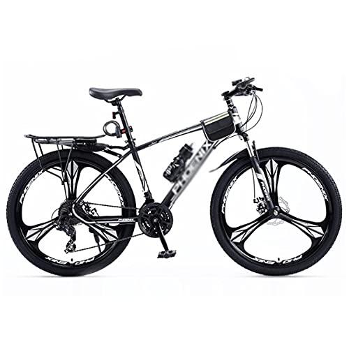 Bicicleta de montaña para adultos y jóvenes, 24 velocidades 27,5 pulgadas Bicicleta de montaña ligera Frenos de doble disco Horquilla de suspensión para exteriores (Tamaño: 27 velocidades, Color: Negr