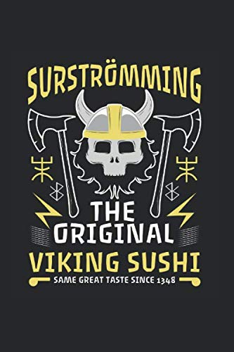 Surströmming Schweden Surströmming Beserker Viking: Notizbuch (15,24cm x 22,86cm) 120 Seiten Kariert (4x4)