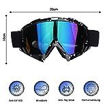 Motorrad Brille Licht TPU Rahmen Blendschutz Goggle Anti Nebel Mode Sportbrille Motocross Goggle