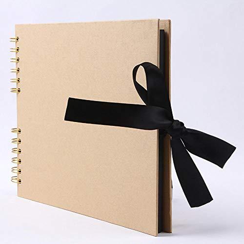 Hayandy 60 Seiten Fotoalben Sammelalbum Papier DIY Bastelalbum Sammelalbum Bildalbum für Hochzeitstag Geschenke Erinnerungsbücher-Gelb