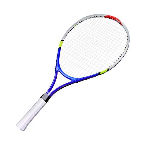Soapow Raqueta durable de la sola raqueta de tenis de la aleación de aluminio de la raqueta de tenis de la cuerda para la práctica