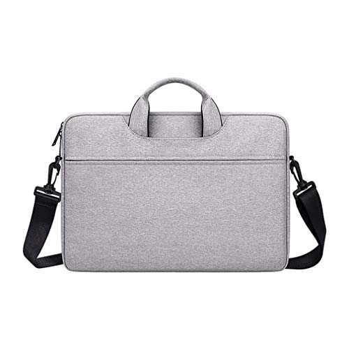 Rlmobes Computer Bag Expandable Shoulder Messenger Bag Professional Travel Commuter Briefcase for Business Travel Men Women,Light Gray 2,14.1 inch