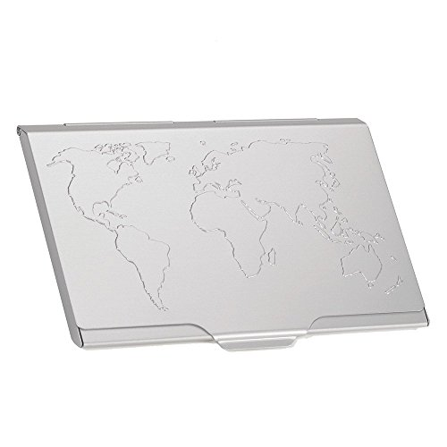 Troika Global Contacts Tarjetero 9 Centimeters Plateado (Silber)
