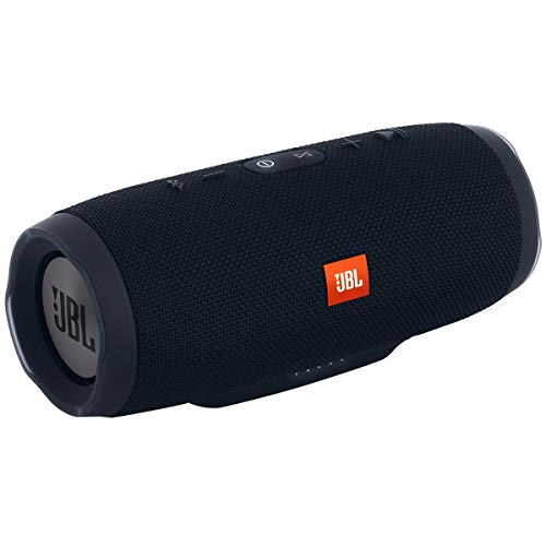 JBL Charge 3 Portable Bluetooth Waterproof Speaker, Black (Renewed)