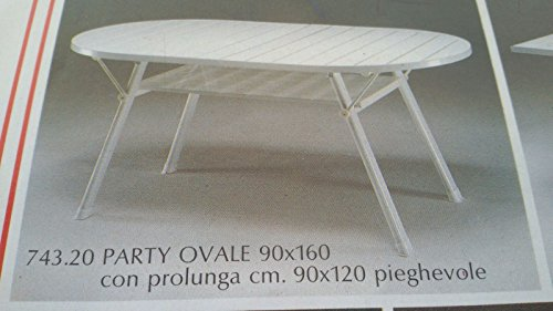 Terreinwagen partytafel ovaal 90x60 met verlenging