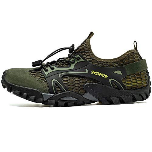 Zapatos de Piscina,Calzado de rastreo Calzado de Senderismo para Hombre Calzado Deportivo-Green_40#,Zapatos Minimalistas