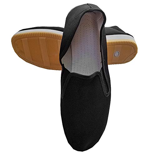 Ace Martial Arts Supply Kung Fu Closed Toe Slip On Shoes -Cotton Sole, and Yellow Bubble Gum Sole (Bubble Gum Sole, 43 M EU)