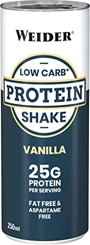 Weider Low Carb Protein Shake, Vanille, 1er Pack (24x 250ml)