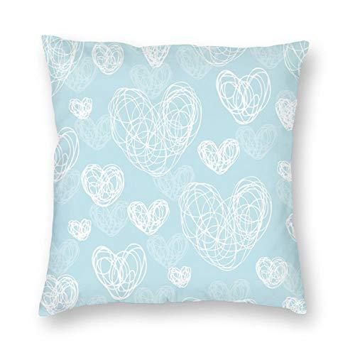 DESIGNS - Funda de cojín con diseño de símbolo de amor romántico, color suave, decoración del hogar, para hombres, mujeres, niños, niñas, sala de estar, dormitorio, sofá de 45 x 45 cm