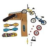 tJexePYK Patinetas Dedo Juguetes Set Parque del patín Kit Mini Scooter de Bicicletas monopatín Lugar Set para niños Manos de Formación 1 Pack