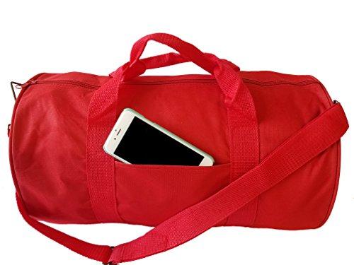 ImpecGear Runde Duffel Sporttaschen Reise Gym Fitness Tasche, rot (Rot) - unknown