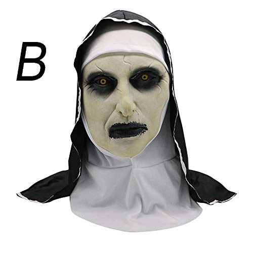 Jcyanz Horror kostuum Non masker Halloweenkostuum Scary Zombie Ghost kostuum Halloween kostuum Female Creepy Devil Sister Party Rekwisieten