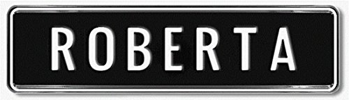 Geprägtes Namensschild zum Selbstgestalten ✓ Ideale Geschenkidee | Individuelles Nummernschild, Aluminium-Schild | Autoschild mit Namen & Spruch selbst gestalten | Aluschild, Kfz-Kennzeichen-Schilder mit Wunschtext