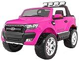 BSD Coche Electrico para Niños Auto Alimentado con Batería Vehículo Eléctrico Control Remoto - New Ford Ranger 4x4 FaceLifting - Rosa