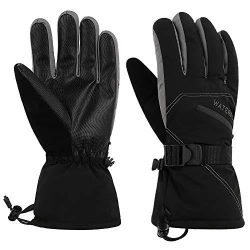 WATERFLY Handschuhe Warme Handschuhe Winter Handschuhe Skihandschuhe Motorradhandschuhe Fahrradhandschuhe Outdoor Handschuhe für Herren Damen Skifahren Snowboarden...