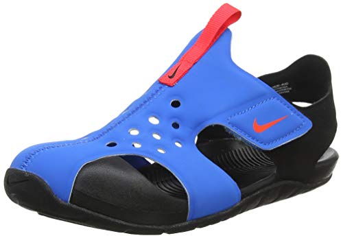 Nike Jungen Sunray Protect 2 (PS) Dusch-& Badeschuhe, Blau (Photo Blue/BRT Crimson/Black 400), 31 EU