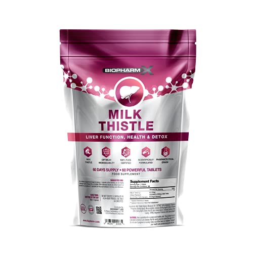 Liver Detox, Cleanse & Repair (60 Tablets) 100% Herbal & Natural Ingredients - Manufactured in The UK by BioPharmX