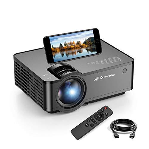 Proyector 5500 Lúmen Mini Proyector, Proyector WiFi Soporte 1080p HD Portátil LED Proyector, Duales Altavoz, 50,000 Horas de Vida, de Cine en Casa Soporte HDMI,USB,VGA,TF, y TV Stick