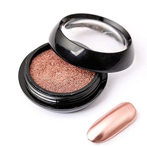 Reines Rose Gold Nail Chrom-Spiegel-Powder-Effekt Glitter Nail Art Shinning Pigment Maniküre Staub (2 Ml)
