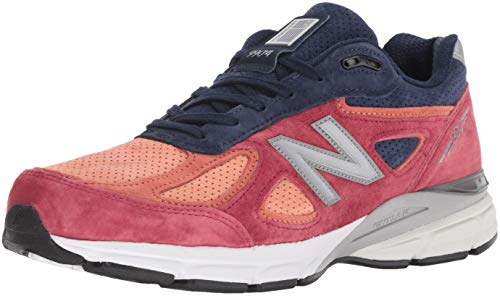 New Balance Men's 990v4, Orange, 12 D covid 19 (Orange Leather Footwear coronavirus)