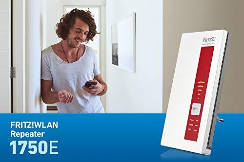 AVM FRITZ!WLAN Repeater 1750E – Dual-WLAN AC + N bis zu 1.300 MBit/s 5 GHz + 450MBit/s 2,4 GHz - 6