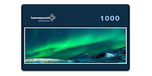 hansepuzzle 32134 Panorama-Puzzle: Polarlichter, 1000 Teile in hochwertiger Kartonbox, Puzzle-Teile in wiederverschliessbarem Beutel