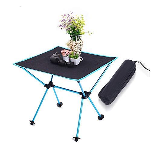 WK Folding Outdoor-Camping-Tisch, Picknick-Tisch, 600D Oxford Cloth bewegliche kleine Esstische mit Aufbewahrungstasche for Garten Innenhof Grillparty lili (Color : Blue)