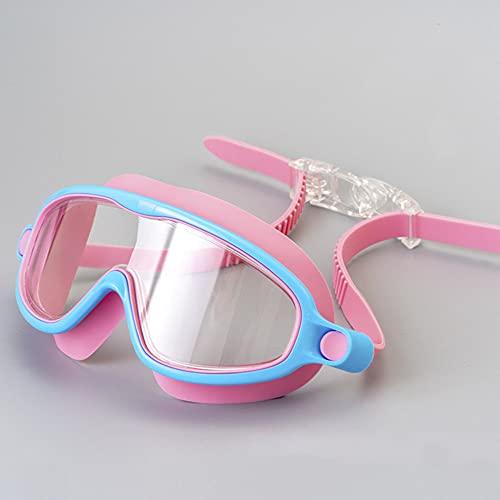 Gafas de Natación Niños Nadando Gafas Natación Gafas de Sol Gafas de sol Anti Niebla UV Eyewear Casos Abeja Cangrejo Pescado Dolphin Protección Capacitación Mascarilla Niños Gafas ( Color : Pink )