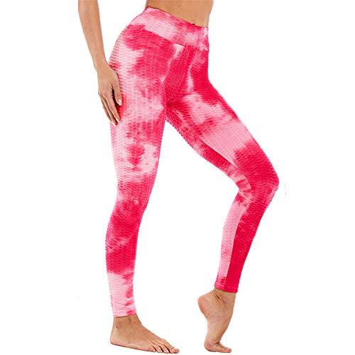 Tiktok Leggings Uk Womens Scrunch Bums Leggings Vita Alta Yoga Pantaloni Honeysculpt Allenamento Esecuzione Collant Y-rosa/rosso M