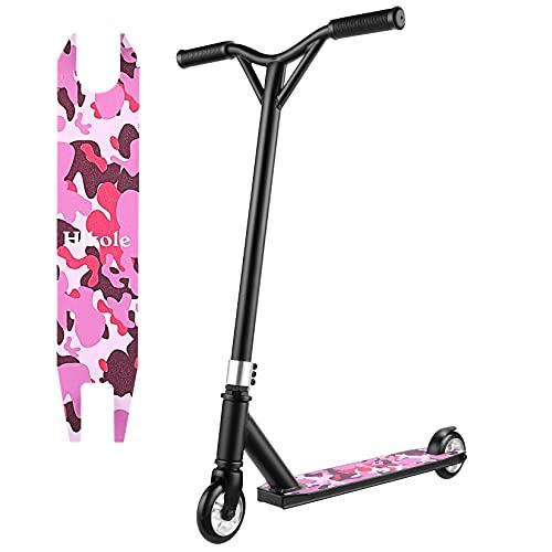 Hikole Patinete Freestyle para niños y Adolescentes – Stunt Scooter Freestyle Resistente a Las Acrobacias y Saltos,80 cm de Altura,100 kg de Carga