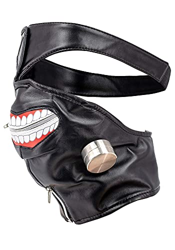 DAZCOS Adjustable Kaneki Ken Cosplay Halloween Mask Eye Patch (Black)