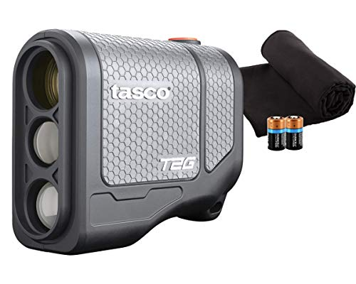 Tasco Tee-2-Green (Standard Version) Golf Laser Rangefinder PlayBetter Pack | 5X Mag, 1 Yard Accuracy, Scan Mode, Case (+Microfiber Towel & Two CR2 Batteries)