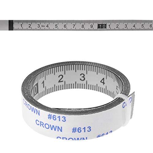 Mentin - Cinta de medición autoadhesiva de acero inoxidable (izquierda a derecha)