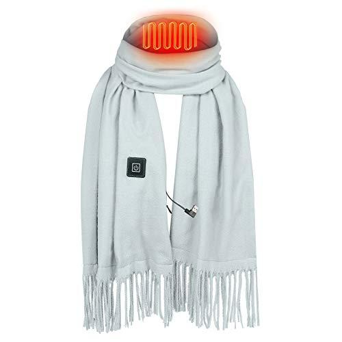 Sciarpa Riscaldata, USB Elettrico Sciarpa Calda Invernale per uomo donna, 3 livelli di temperatura, Lavabile Riscaldata Sciarpa caldo scaldacollo per Protezione dal Freddo per Interni ed Esterni
