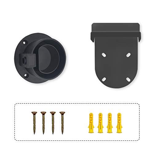 Evcars EVSE Typ 2 Dummy Socket EU Steckerhalter für IEC 62196 EVs mit EV Ladegerät Wandhaken Kabelhalter