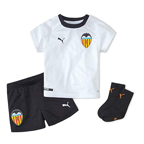 Puma Valencia CF Primera Equipación 2020-2021 Bebé, Conjunto, Puma White-Puma Black, Talla 86 [cm]