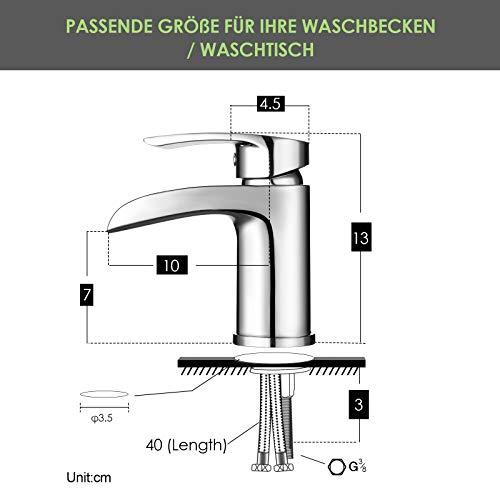 Design Kurzer Wasserfall Waschtischarmatur Einhebelmischer-Waschtischbatterie Bad Armatur Wasserhahn für Waschbecken - 5