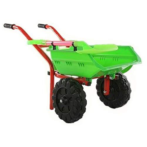 YYLL Gartenspielzeug mit Kinder-Schubkarre - doppelt Rädern im Freien Innenraum for Kinder for Kinder (Color :...