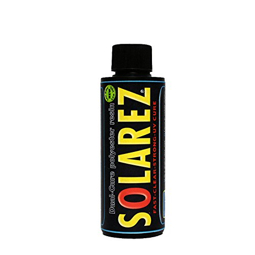 Solarez UV Dual Cure, Low-VOC Clear Polyester Resin (4 Oz) ~ Clear Laminating Resin - No Waiting! for Custom Woodworking, Surfboards, Marine, Auto, & Hobby ~ Eco-Friendly ~ Made in The USA