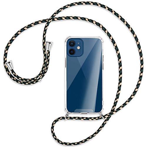 mtb more energy Collana Smartphone per Apple iPhone 12 Mini (5.4'') - Camouflage - Custodia indossabile per Collo - Cover a Tracolla con cordina