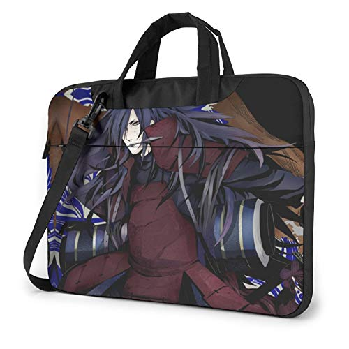 Naruto Madara Uchiha Compatible with 15.6 Inch Multi-Functional Shockproof Laptop Shoulder Messenger Bag Casual Bags with Adjustable Strap,Computer Carrying Bag for MacBook Notebook
