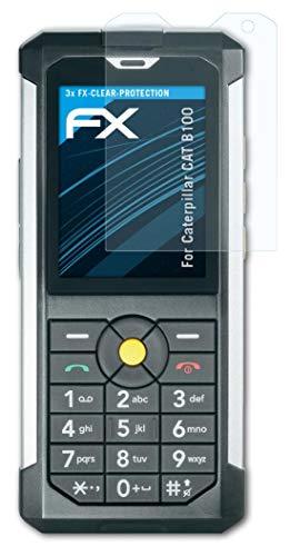 atFolix Schutzfolie kompatibel mit Caterpillar CAT B100 Folie, ultraklare FX Bildschirmschutzfolie (3X)