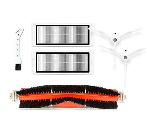 APLUSTECH Ricambi per Roborock S50 S51 S55 S5 S6 - Accessori per aspirapolvere Robot Xiaomi Mi Mijia - Spazzola Principale, Spazzola Laterale, Filtro HEPA.