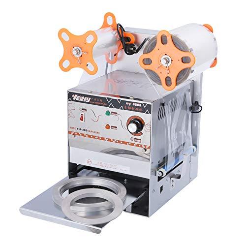 Best Buy! Hanchen Commercial Cup Sealing Machine, 700W Paper/Plastic Bowl Sealer 400-450 Cups/Hour E...