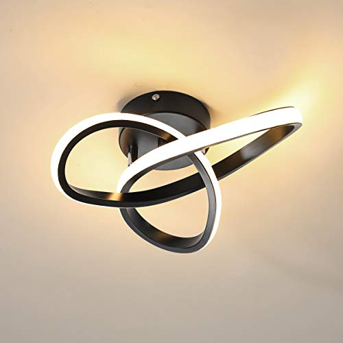 minfair Plafoniera moderna a LED, plafoniera a geometria rotonda, lampadario chic 3000K per...