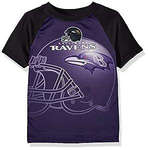 NFL Baltimore Ravens Boys Short Sleeve T-Shirt, Multi-Color, 12M